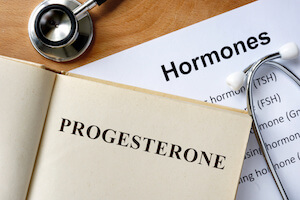 Hormone Word Cloud Highlighting Progesterone