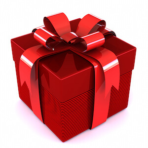 Present Wrapped with a bow