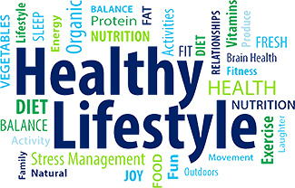 Healthy Life Style Word Cloud