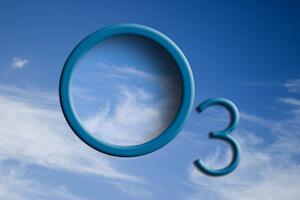 O3 logo in the sky