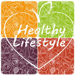 Healthy Lifestyle in a word cloud.